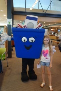 Julia learns about recycling from Waste Management Niagara