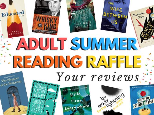 ADULT SUMMER READING RAFFLE 2018